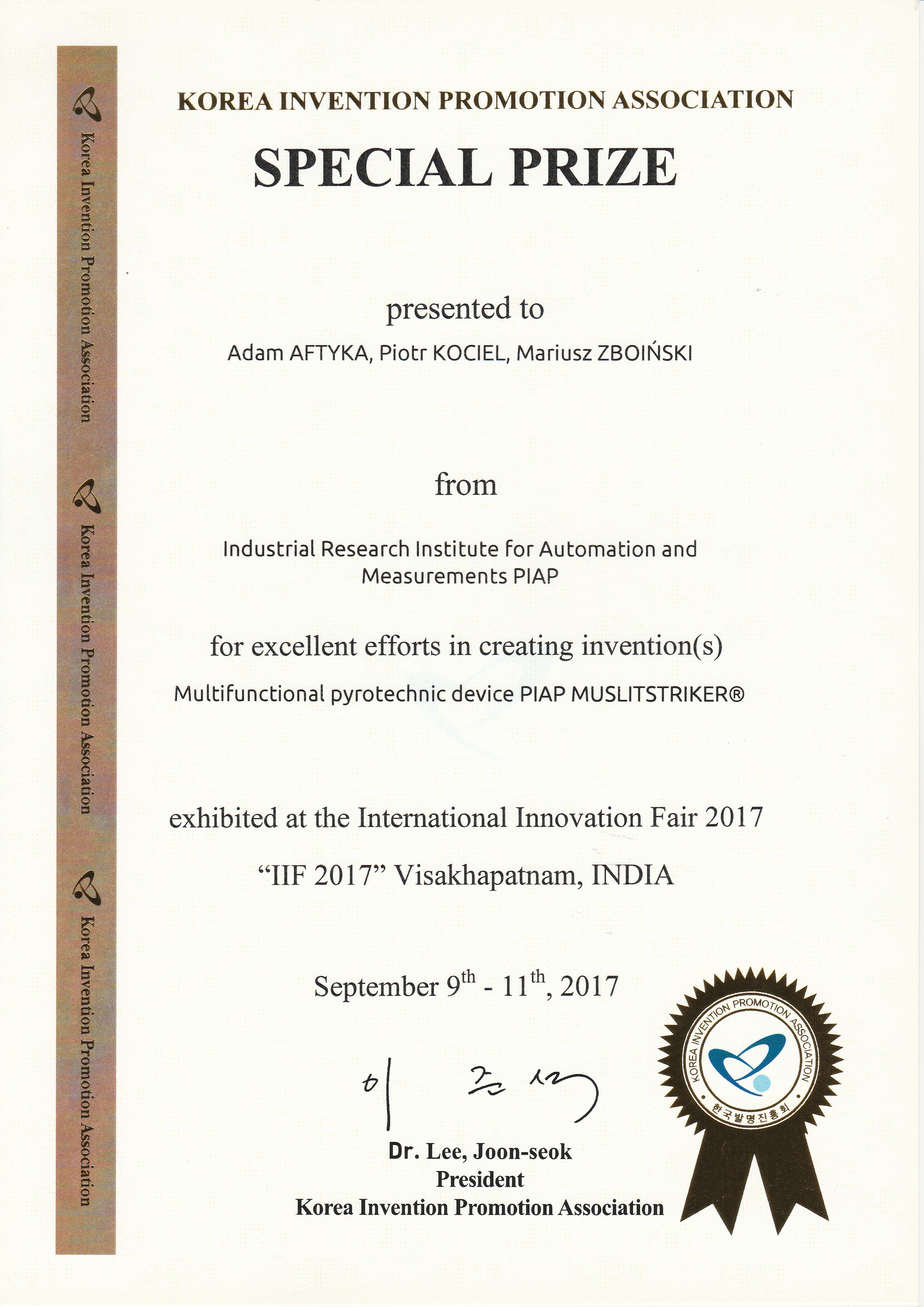 International Innovation Fair 2017